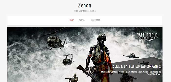 Zenon Lite - Clean WordPress Theme