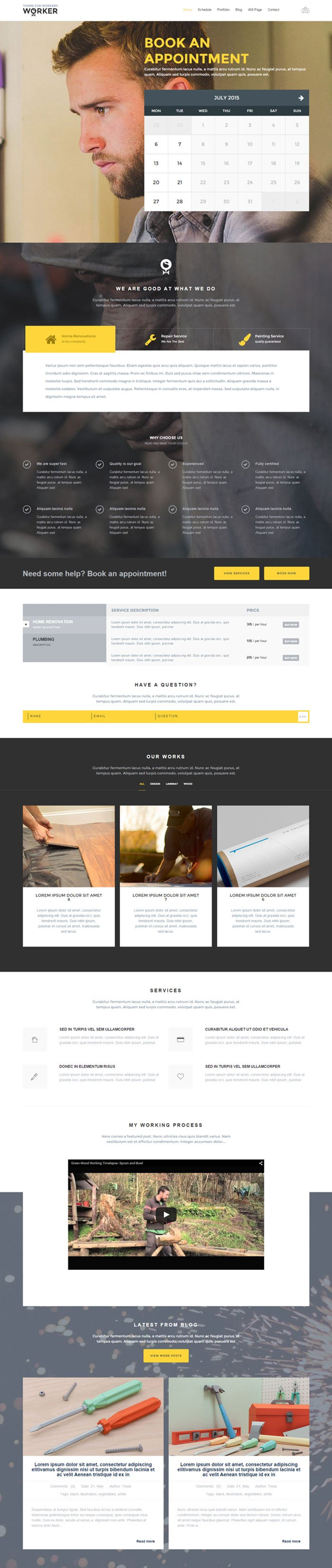 Download Worker WordPress Theme