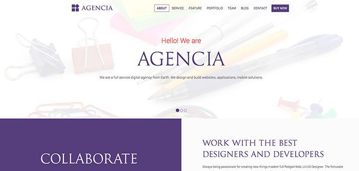 Agencia - Business One Page WordPress Theme