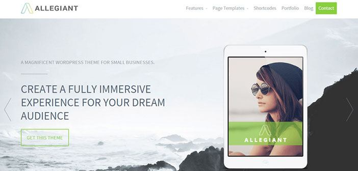 Allegiant - Multipurpose WordPress Theme