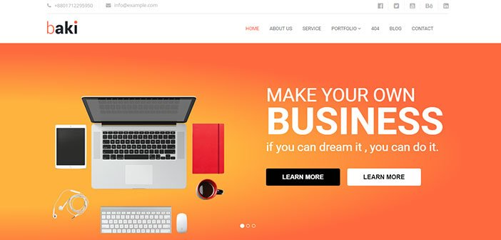 Baki - Creative Business WordPress Theme