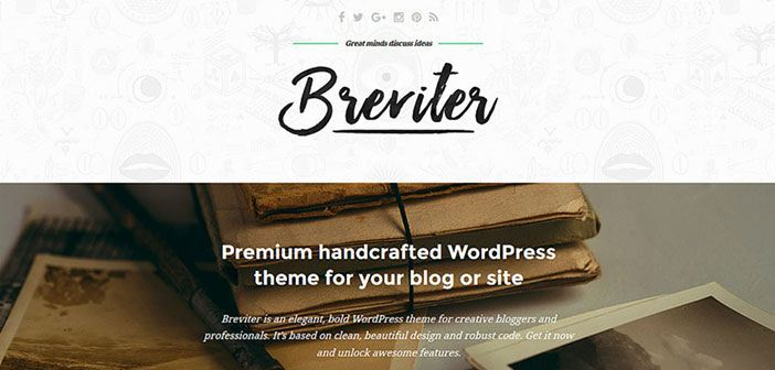 Breviter - An Elegant Blog WordPress Theme