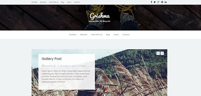 Grishma - Clean Simple Blog WordPress Theme