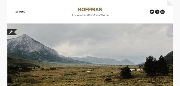 Hoffman - Beautiful Blog WordPress Theme