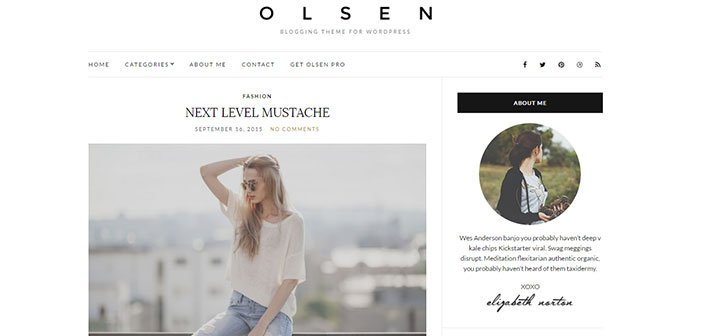 Olsen Light - Fantastic Lifestyle Blogging WordPress Theme