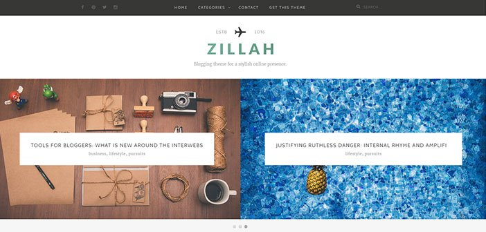 Zillah - Stylish Blogging WordPress Theme