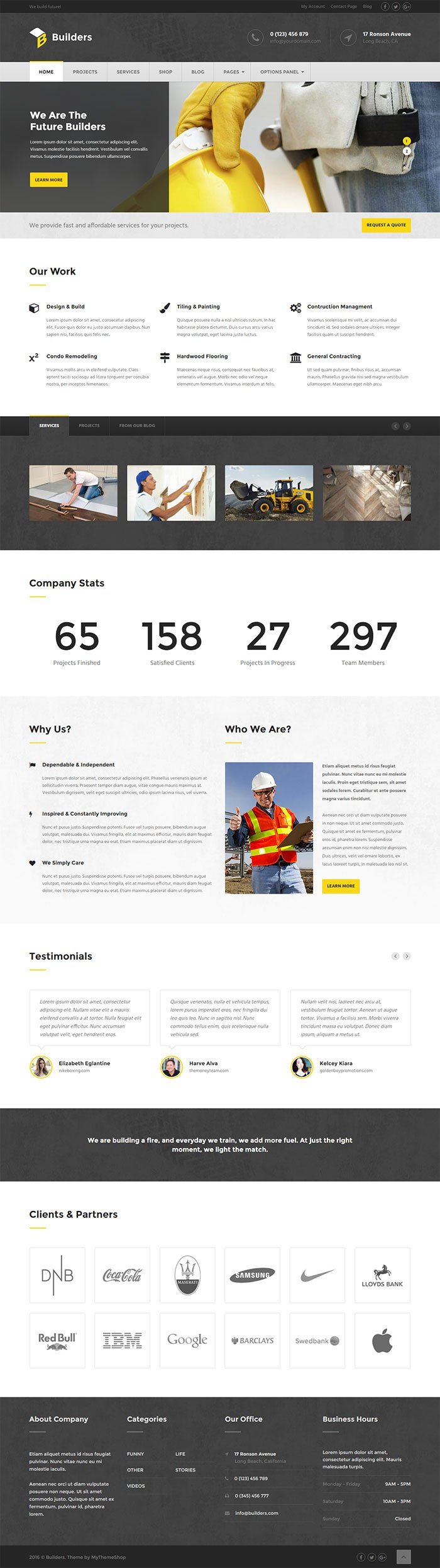 Builders WordPress Theme Mythemeshop
