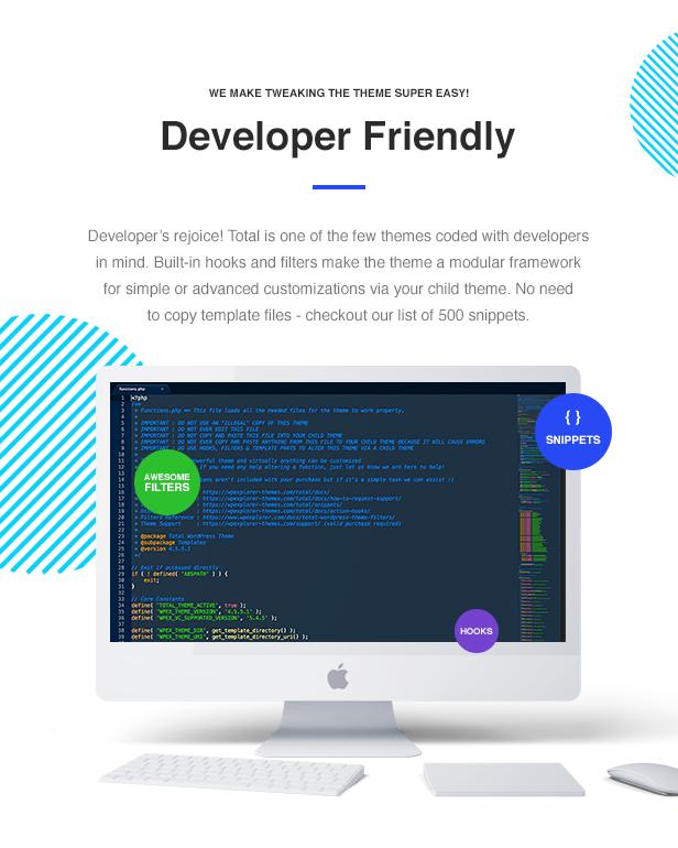 Total WordPress Theme Developer Friendly