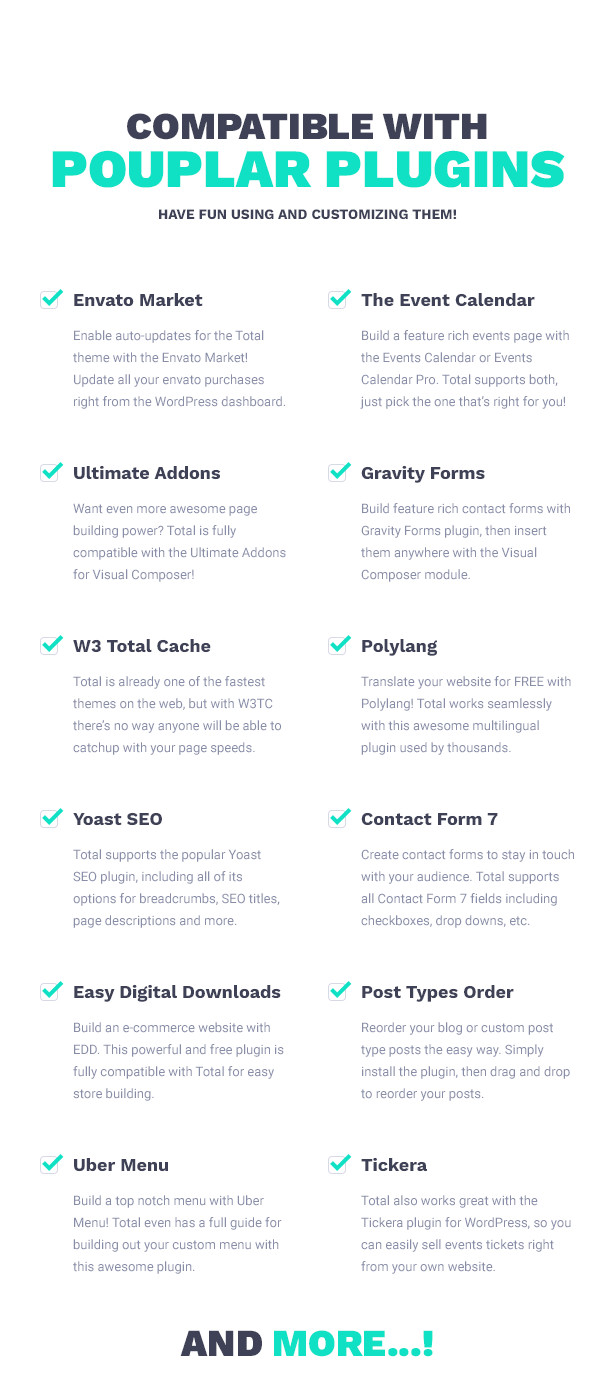 Total WordPress Theme Compatible with Popular Plugins