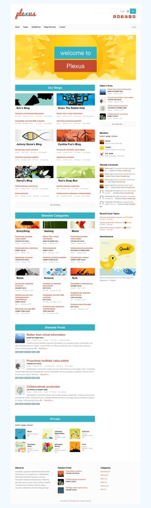 Plexus - WordPress & BuddyPress Theme