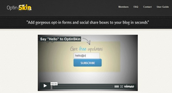 Wordpress Popup Plugin OptinSkin