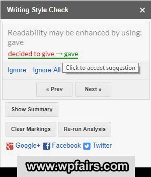 ProWritingAid Google Docs Extension