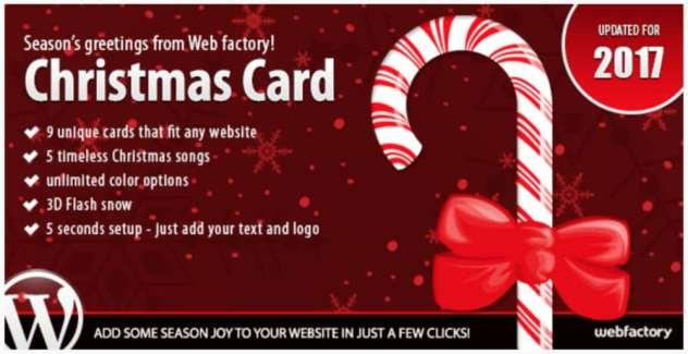 plugin de Noël : Christmas Card