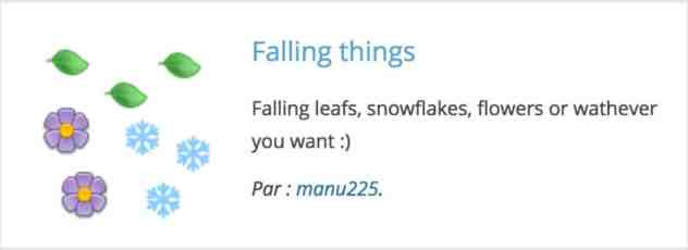 Plugin WordPress Falling Things