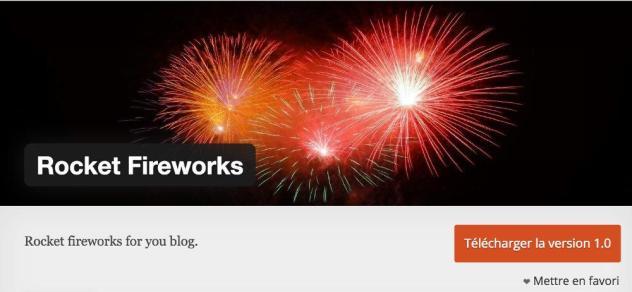 Plugin de Noël : Rocket Fireworks