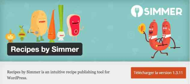 Recipes by Simmer - plugin WordPress