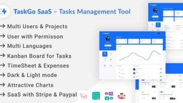 TaskGo SaaS – Tasks Management Tool Nulled