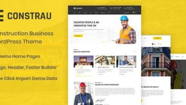 Constrau v1.1.6 – Construction Business WordPress Theme Nulled