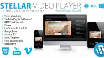 Stellar Video Player v2.1 – WordPress plugin Nulled
