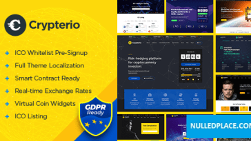 Crypterio v2.4.0 – ICO and Cryptocurrency WordPress ThemeDownload Nulled