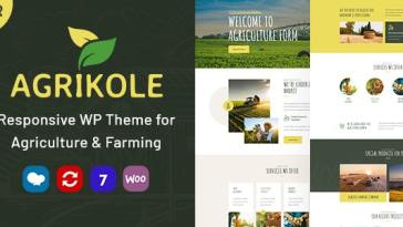 Agrikole v1.6 – Responsive WordPress Theme for Agriculture & Farming Nulled