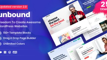 Unbound v2.1.4 – Business Agency Multipurpose Theme Nulled