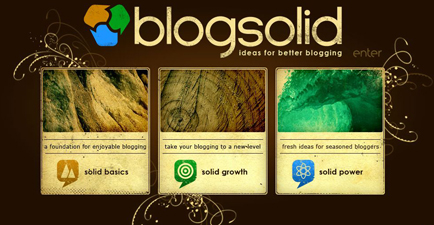 Blogsolid homepage