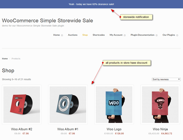 WooCommerce Simple Storewide Sale screenshot