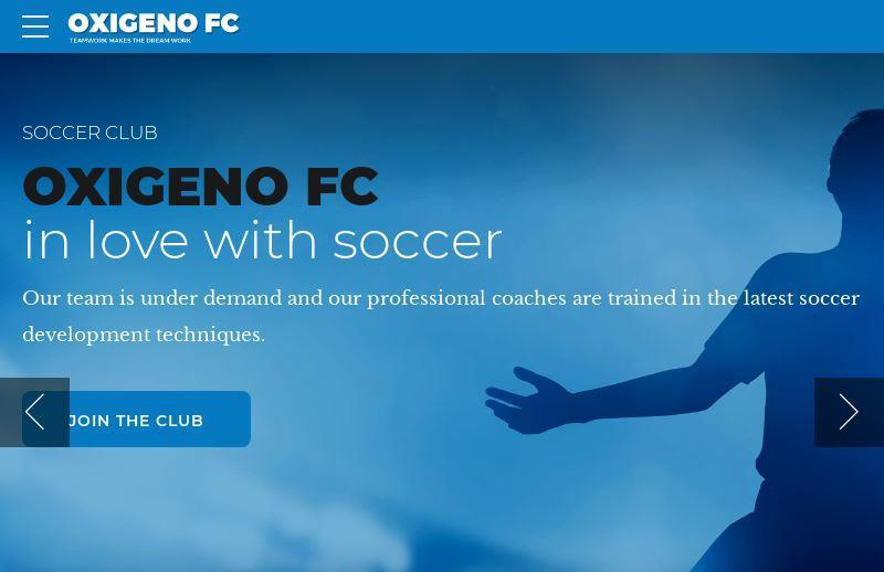 oxigeno wordpress sports theme