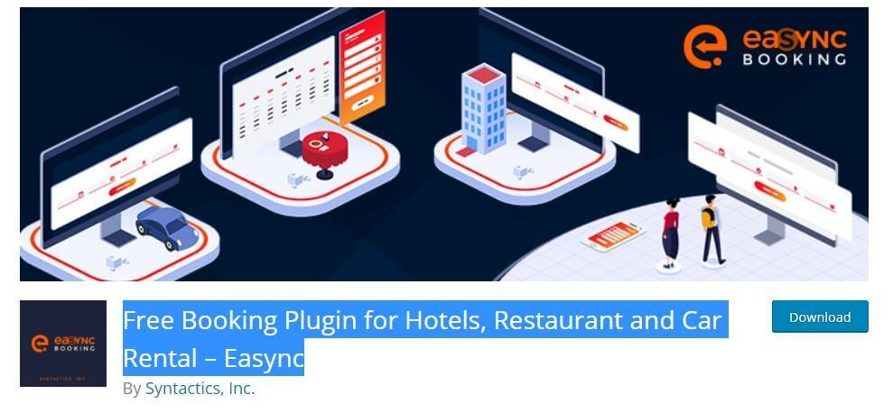 Free-Booking-Plugin-for-Hotels-Restaurant-and-Car-Rental-–-Easync