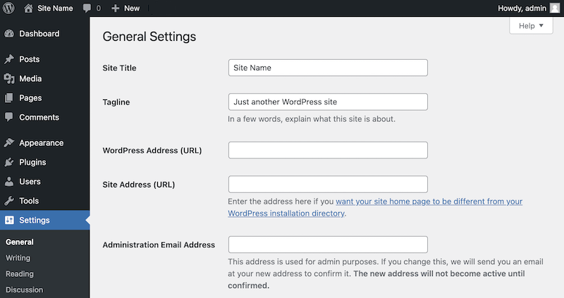 Editing the WordPress title tag from general settings