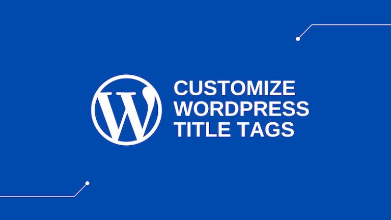 edit wordpress title tag