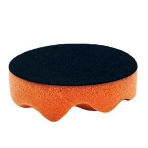 4吋黑橘波浪海綿(6入)