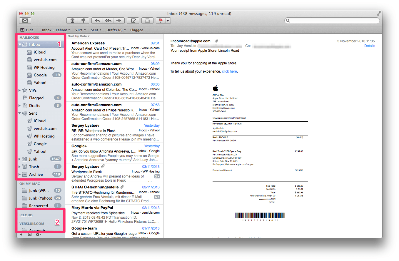 These Are What Mac Mail Creates For You, And You Can't Change Those