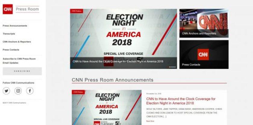 CNN Press Room- Big Brands using WordPress