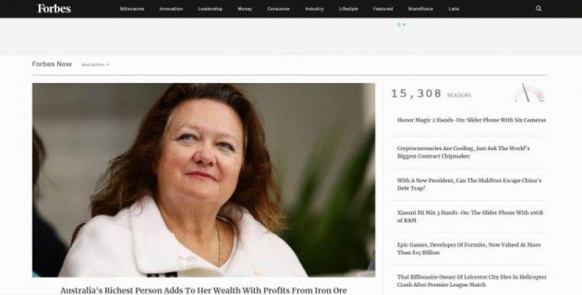 Forbes blog- wordpress sites 2018
