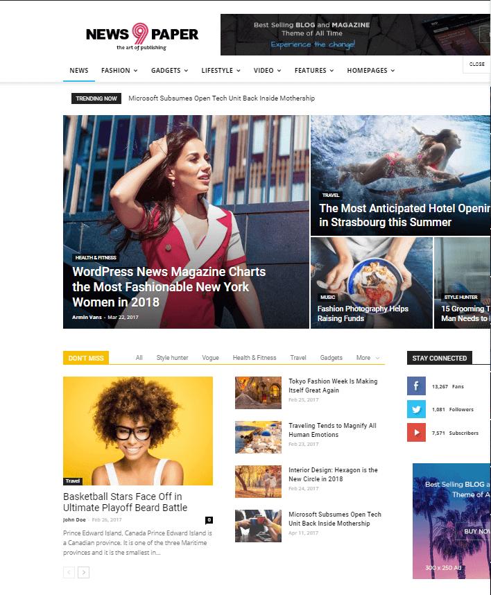 Newspaper- how to create a news website in WordPress