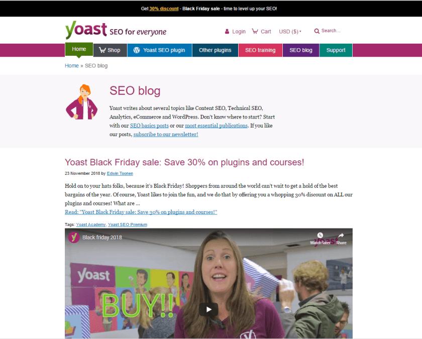 Yoast blog- best WordPressblogs