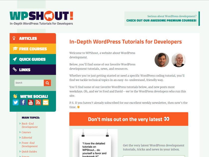 wpshout- best WordPressblogs