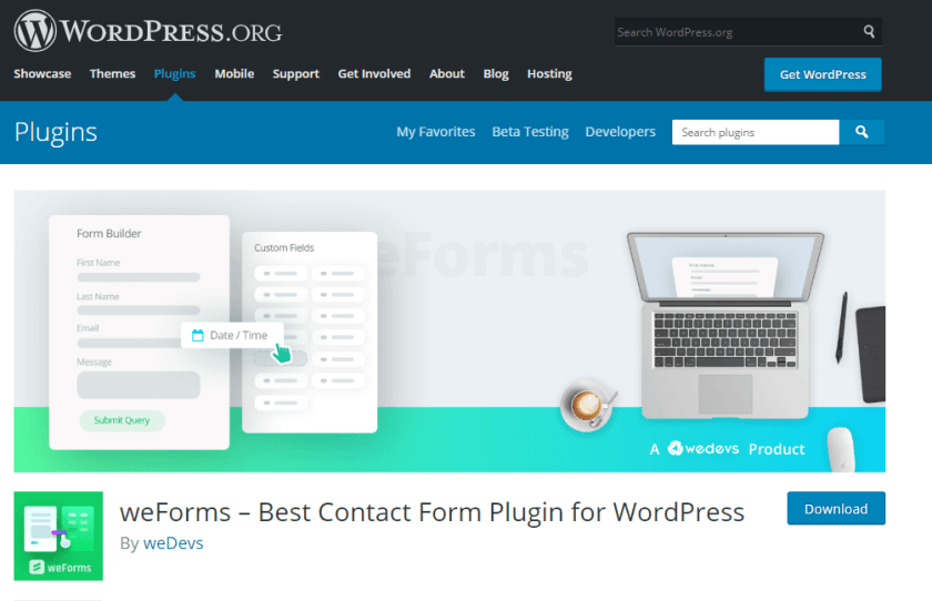 weforms- how to create a news website in WordPress