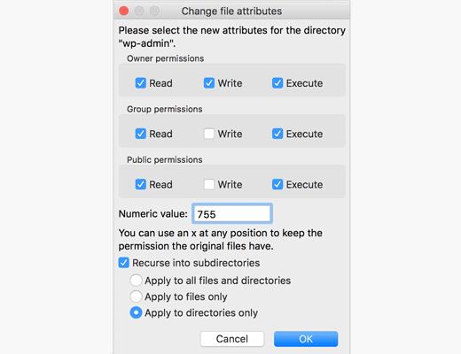 Change File Permissions