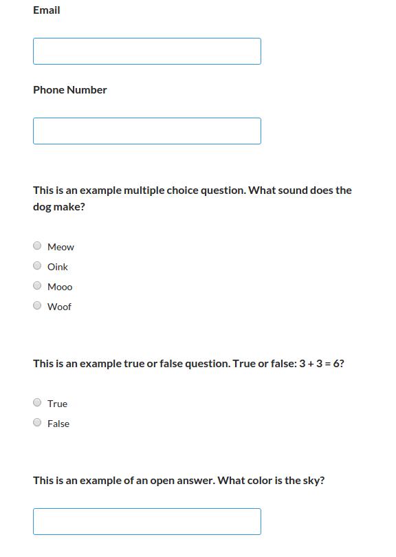 wordpress quiz test