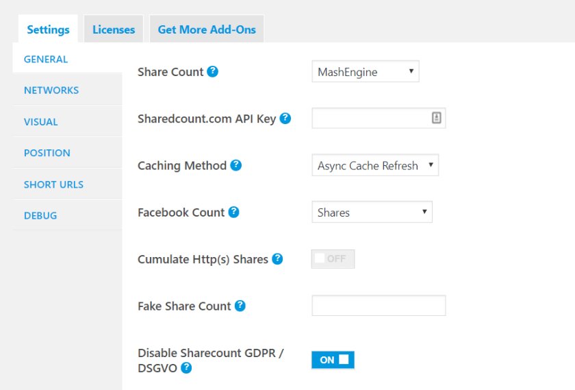 Mashshare wordpress social media feed plugin