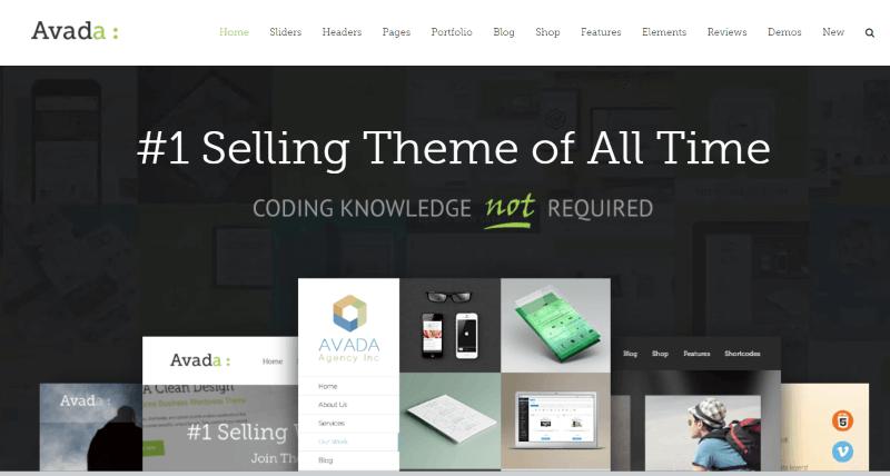 Avada - WordPress Resume Theme