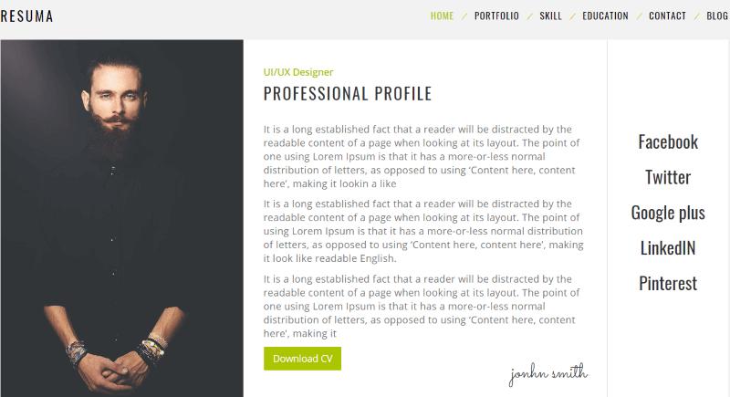 9+ Best WordPress Resume (CV) Themes for Landing Your Dream Job 2