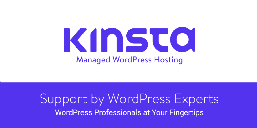 Kinsta WordPress Optimized Hosting