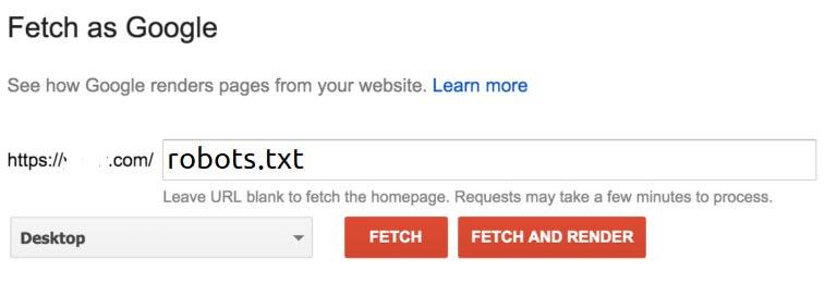 robots.txt using Google Webmasters Tools