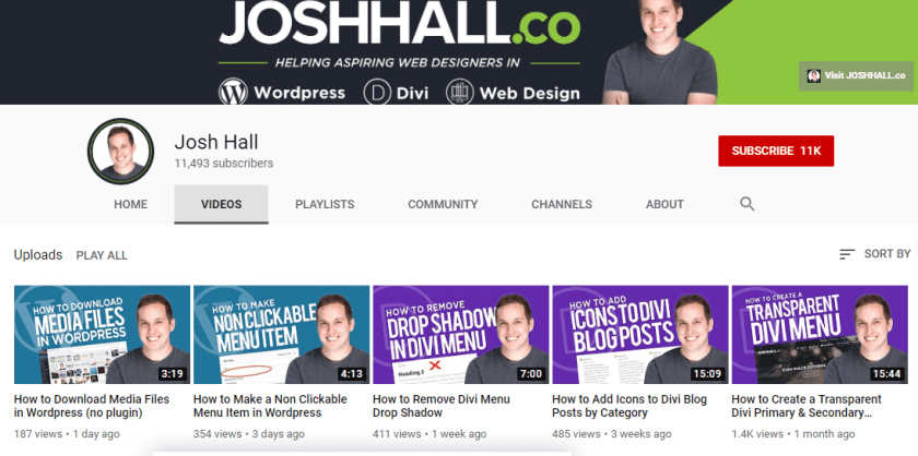 Josh Hall YouTube Channel