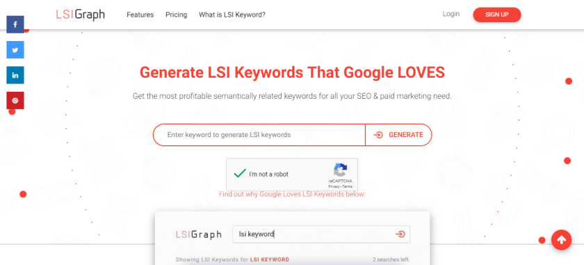LSIGraph to find long-tail keywords