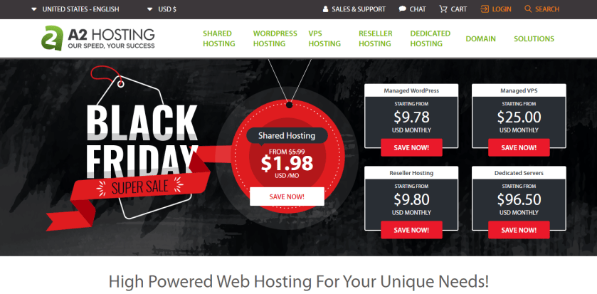 A2 Hosting Black Friday Sale